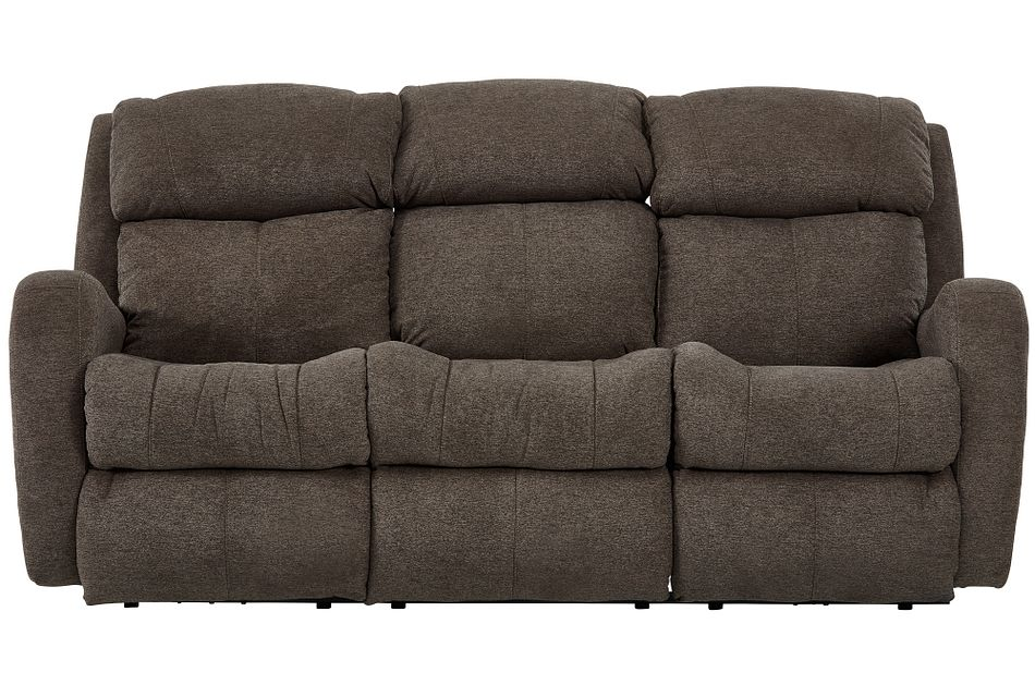 Finn Brown Fabric Reclining Sofa