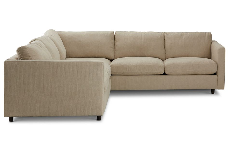 Simone Beige Fabric Small Two-arm Sectional
