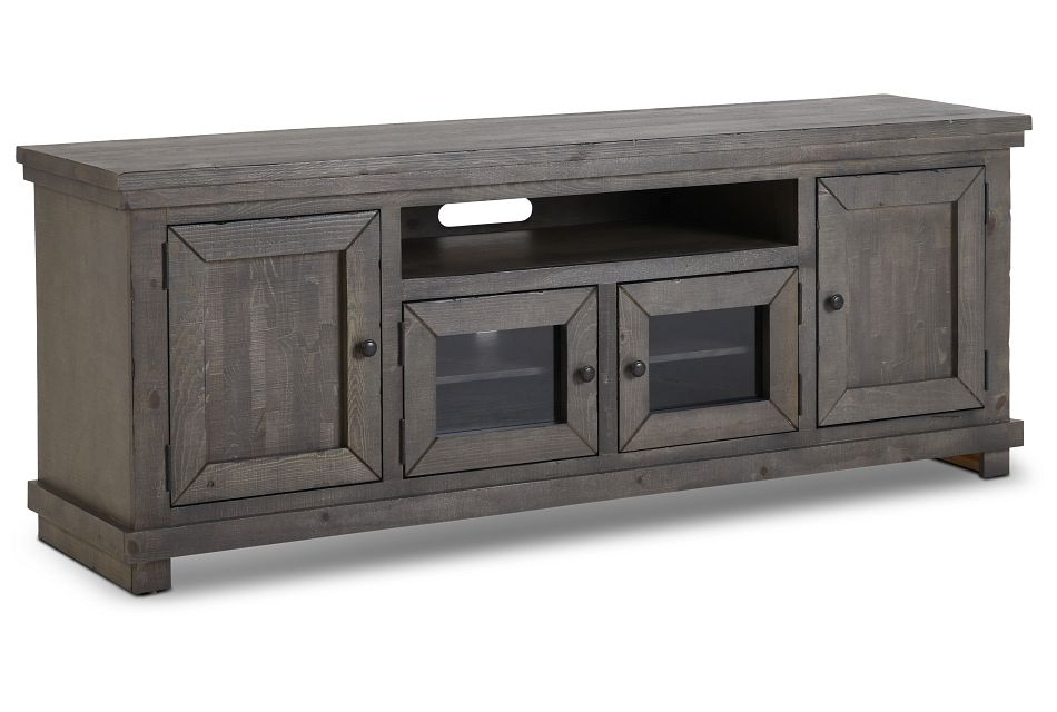 """Willow Gray 74"""" Tv Stand,"""