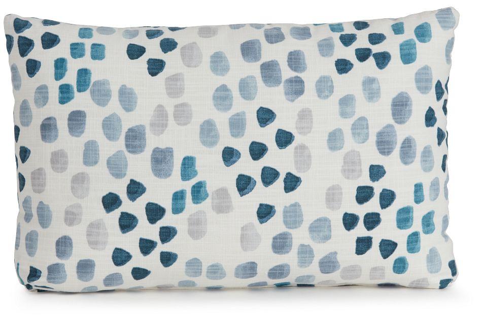 Pfeiffer Blue Fabric Lumbar Accent Pillow,  (0)