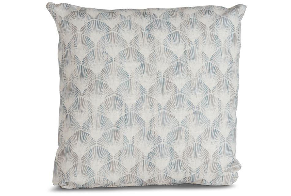 "Shell Green Fabric 20"" Accent Pillow,  (1)"