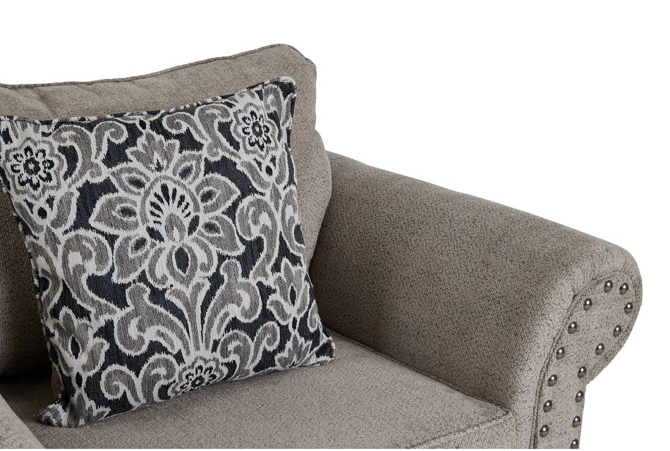 Adrian Light Gray Fabric Chair