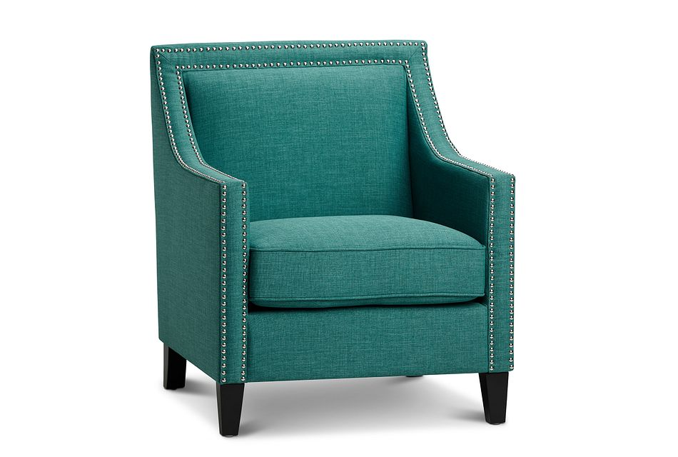 Erica Teal Fabric Accent Chair