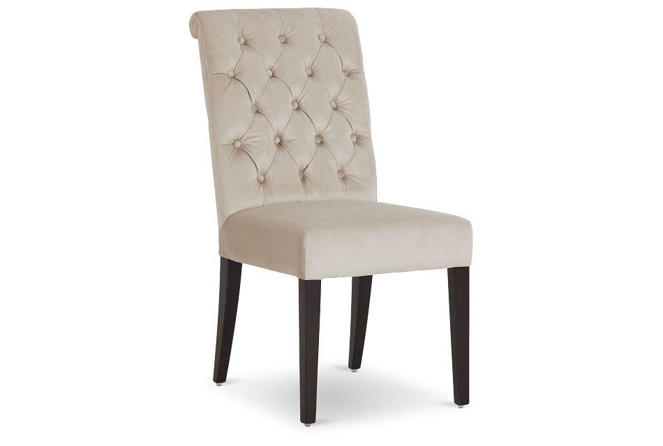Sloane Light Beige Upholstered Side Chair,  (1)