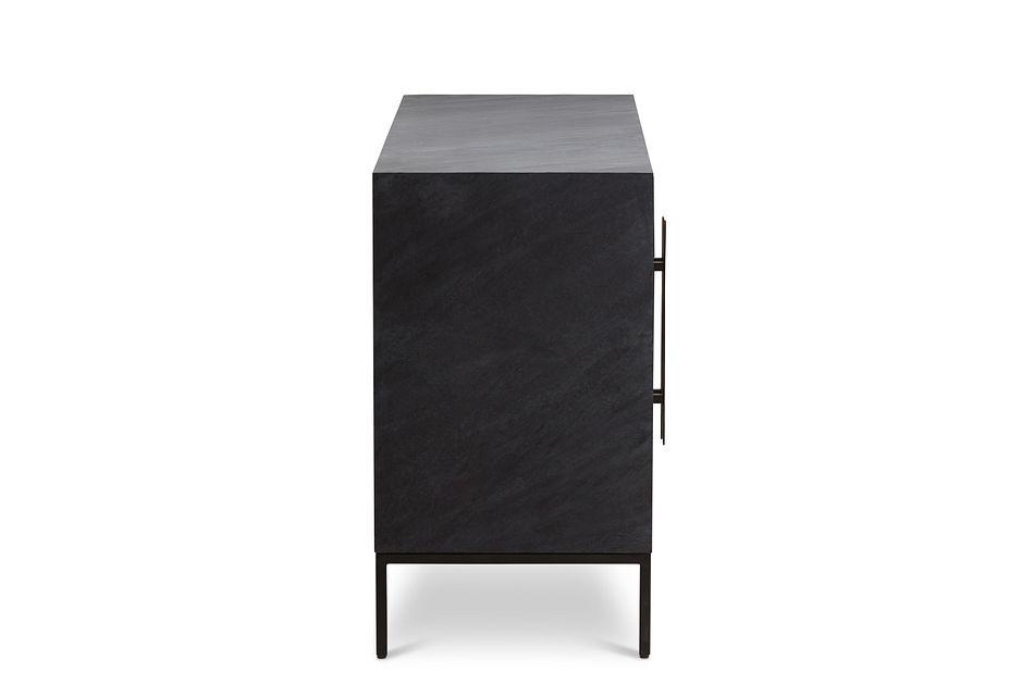 Dax BLACK WOOD Four-Door Cabinet,  (3)