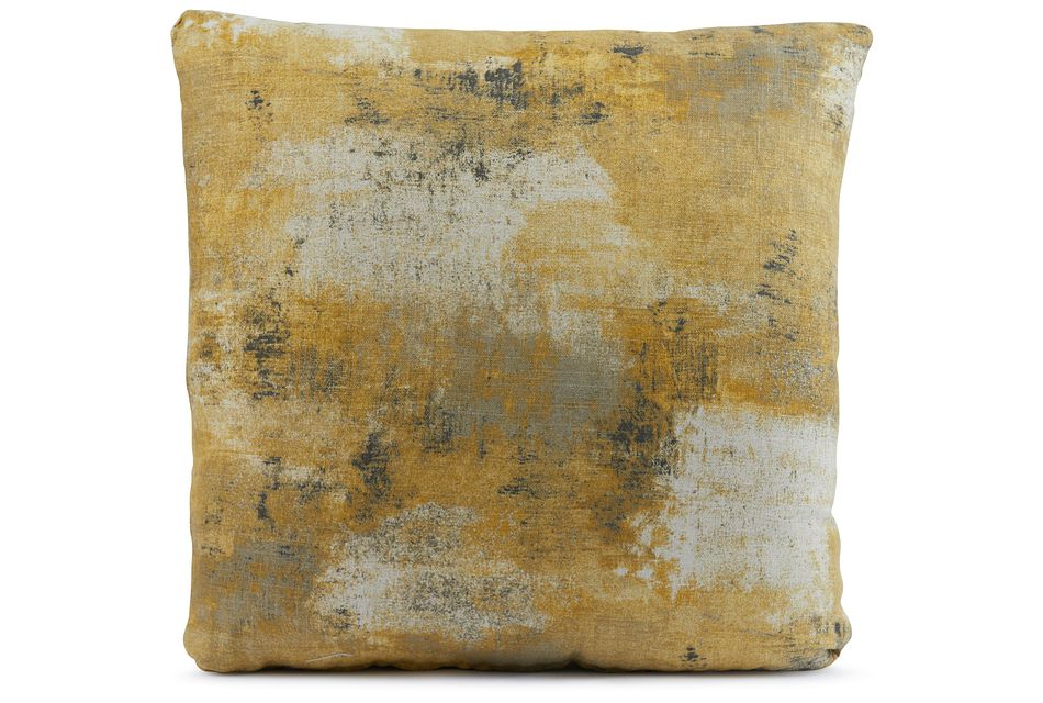 """Antalya Yellow 18"""" Square Accent Pillow"""