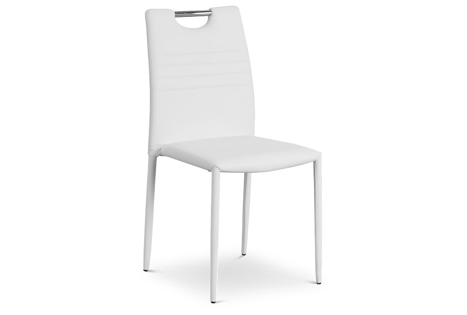 Skyline White Upholstered Side Chair,  (1)