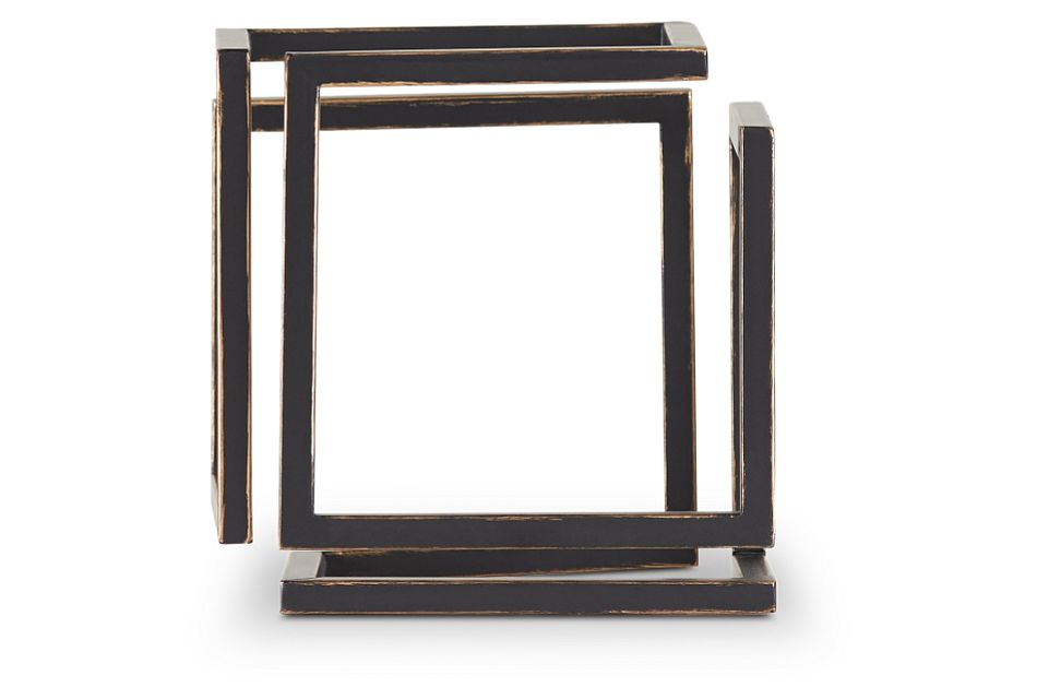 Cube Black Large Tabletop Accessory