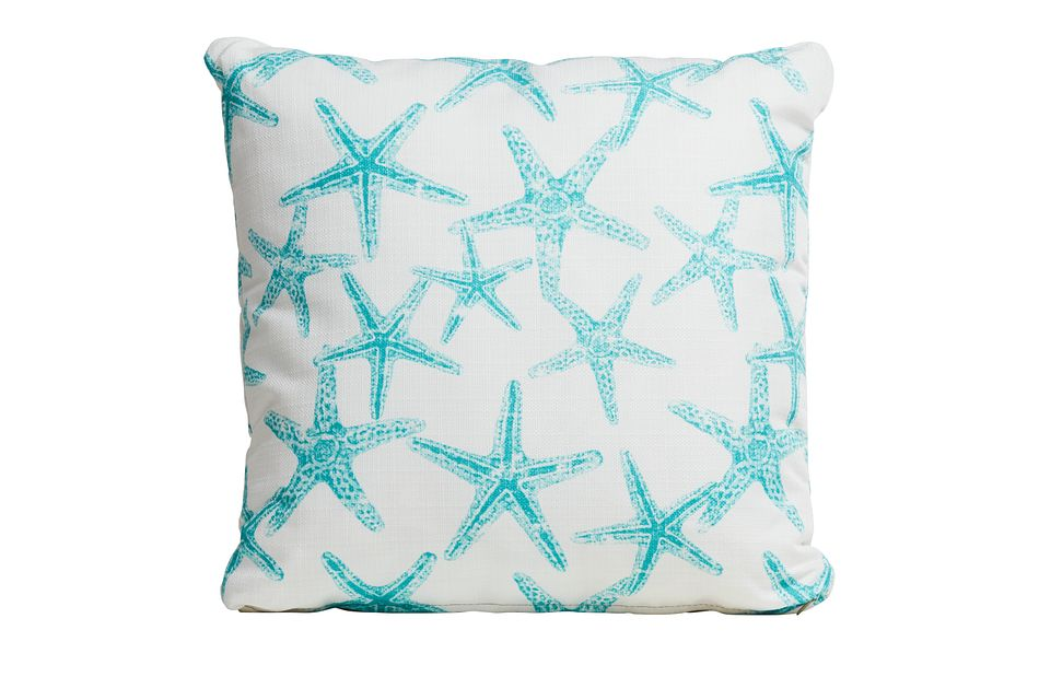 "Sea Friends White 18"" Indoor/outdoor Accent Pillow"