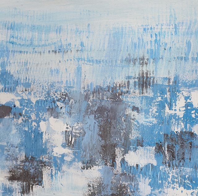 Athena Blue Set Of 3 Framed Canvas Wall Art