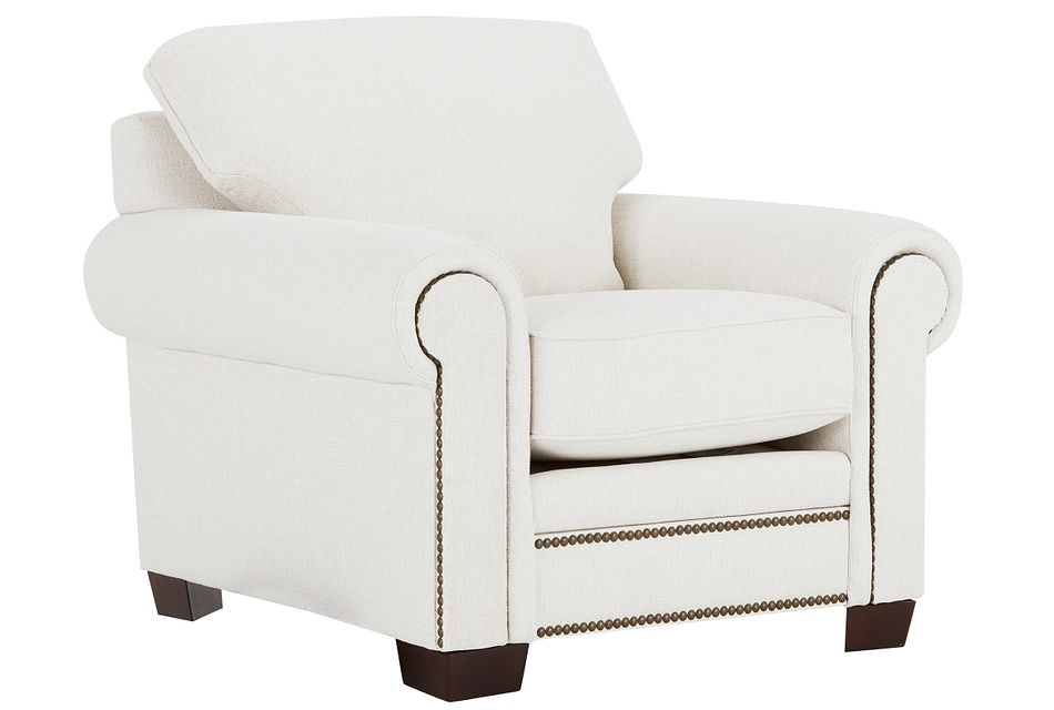 Foster White Fabric Chair