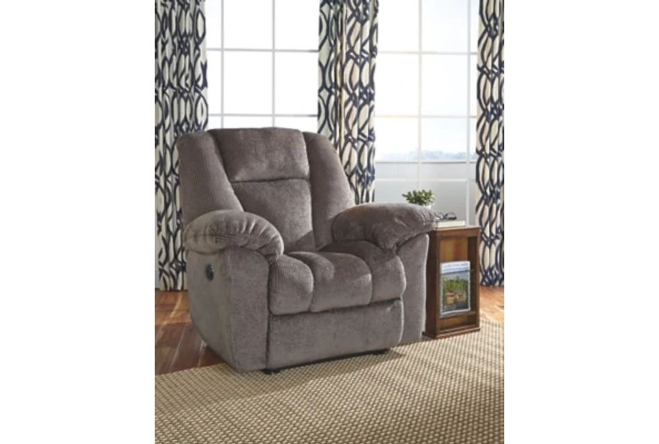 Nimmons Taupe Micro Power Recliner