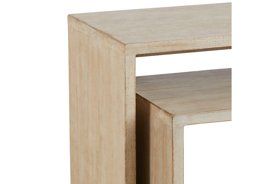 Merwin Light Tone Set Of 2 Nesting End Table
