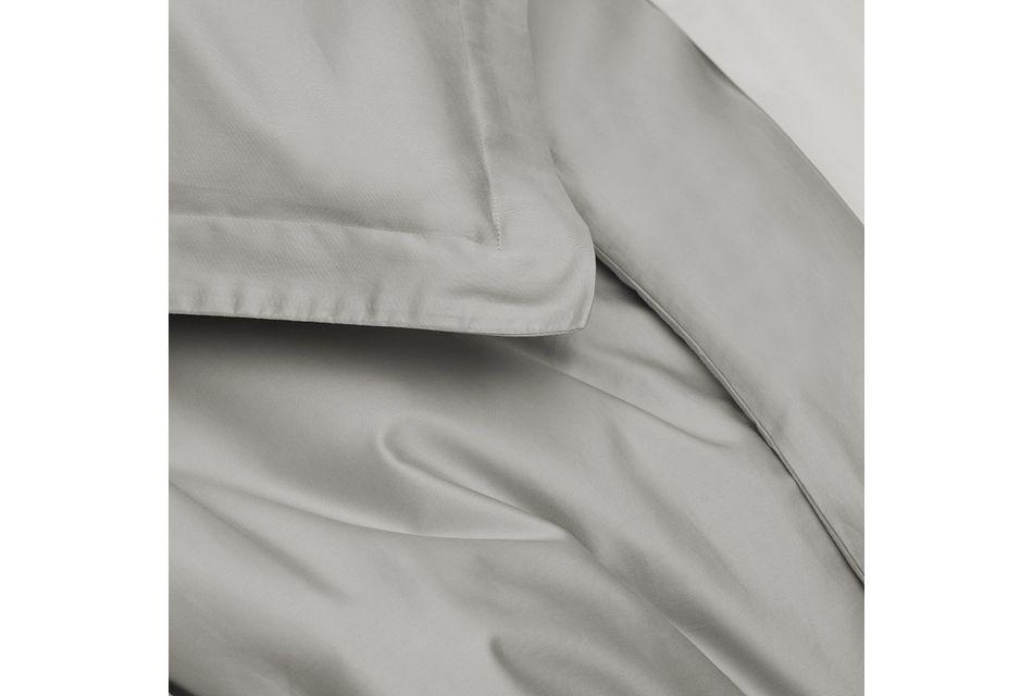 Cotton Sateen Gray 300 Thread Duvet Set