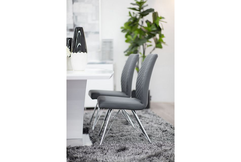 Lima GRAY  Upholstered Side Chair,  (2)