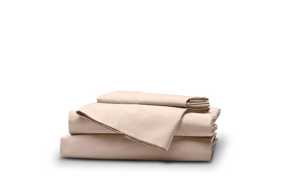 Organic Cotton Pink 300 Thread Sheet Set
