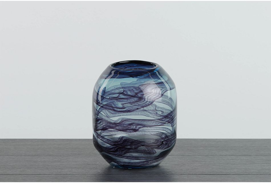 Cocoa Dark Blue Vase