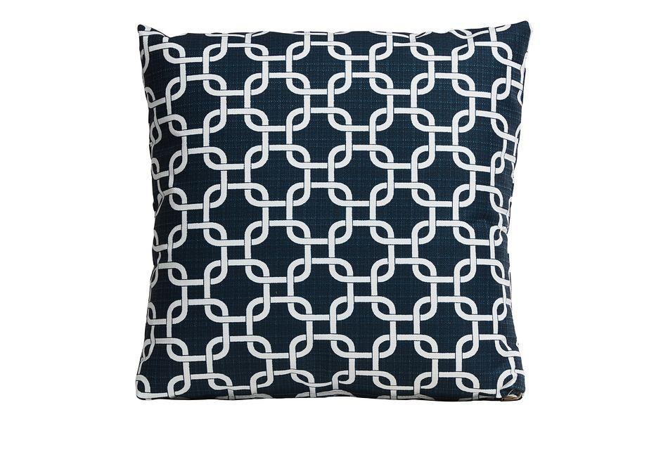 "Gotcha Dark Blue 20"" Indoor/outdoor Accent Pillow"