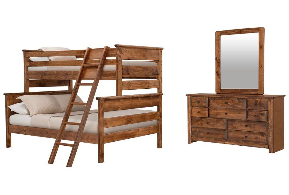 Laguna Dark Tone Bunk Bed Bedroom