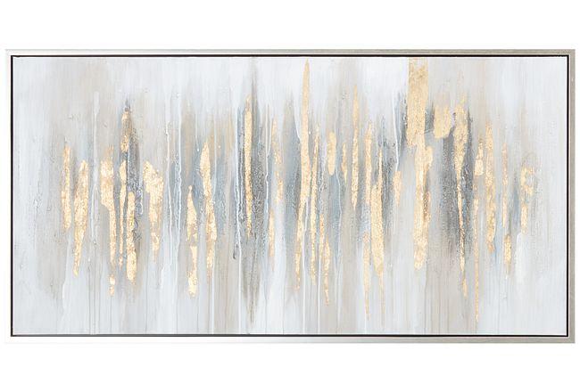 Crystal Gold Framed Canvas Wall Art