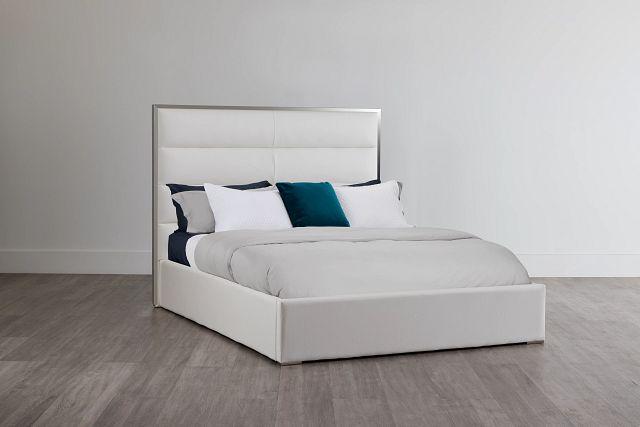 Cortina White Uph Platform Bed (0)