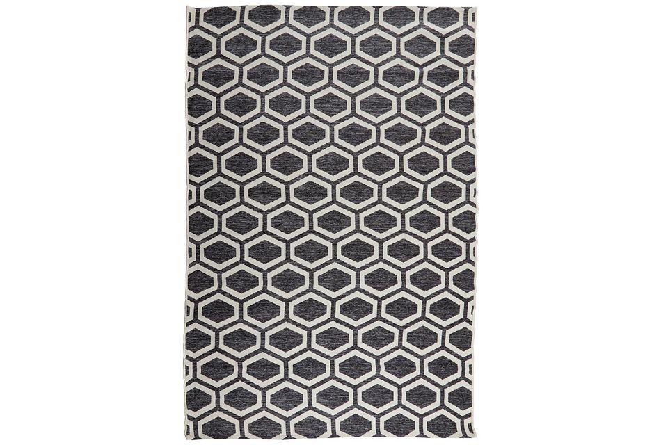 Simco Dark Gray Indoor/outdoor 5x8 Area Rug