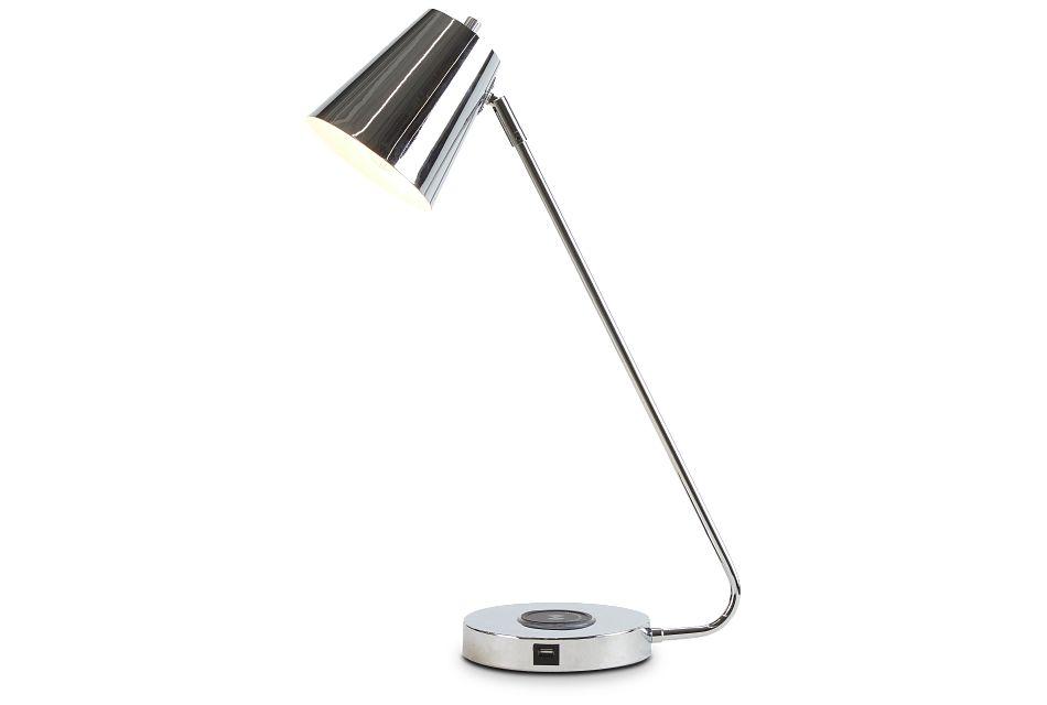 Kara Chrome Desk Lamp,  (2)