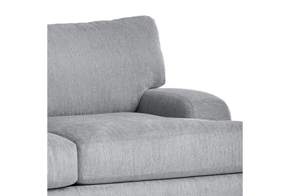 Alpha Light Gray Fabric Sofa