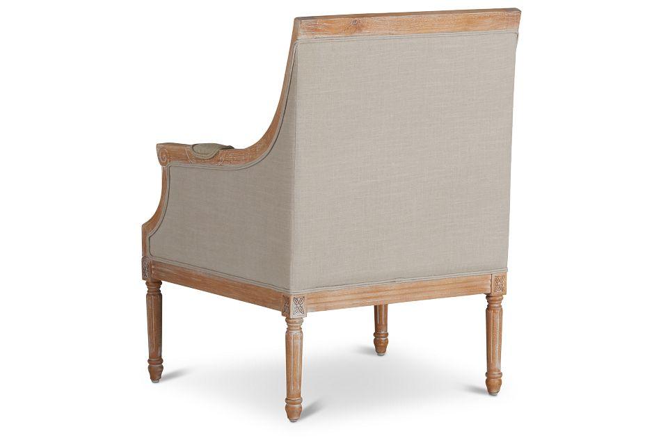 Mckenna Beige Fabric Accent Chair