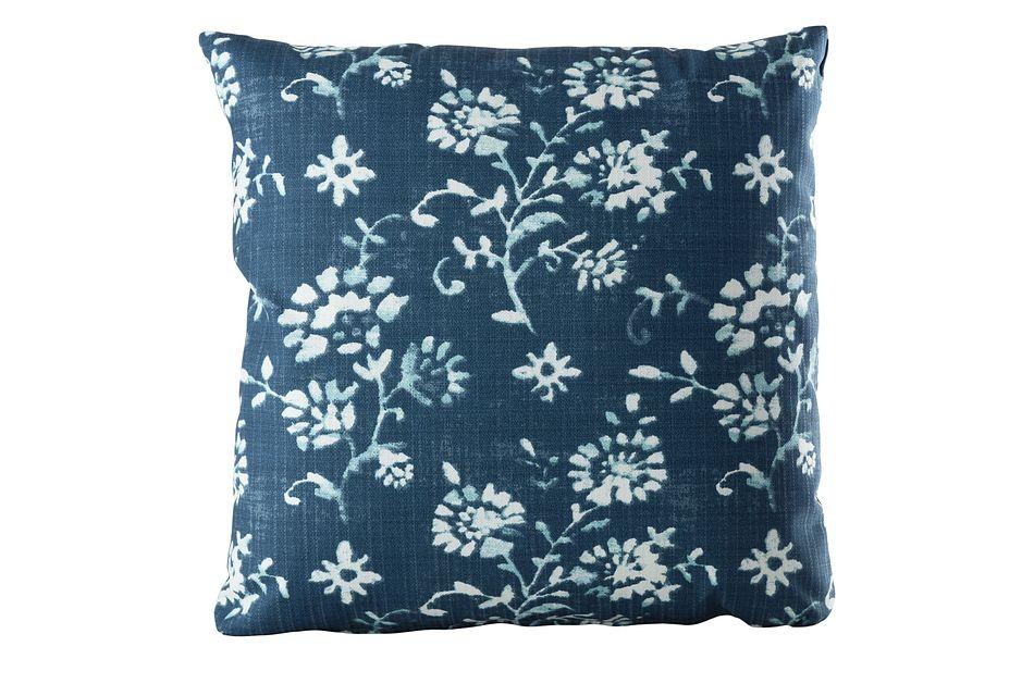 """Lenore Blue 20"""" Indoor/outdoor Accent Pillow"""
