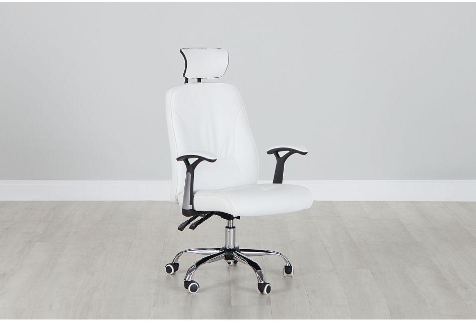 Aurora White Uph Desk Chair, %%bed_Size%% (0)