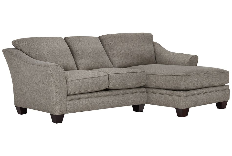 Avery Dark Gray Fabric Right Chaise Sectional