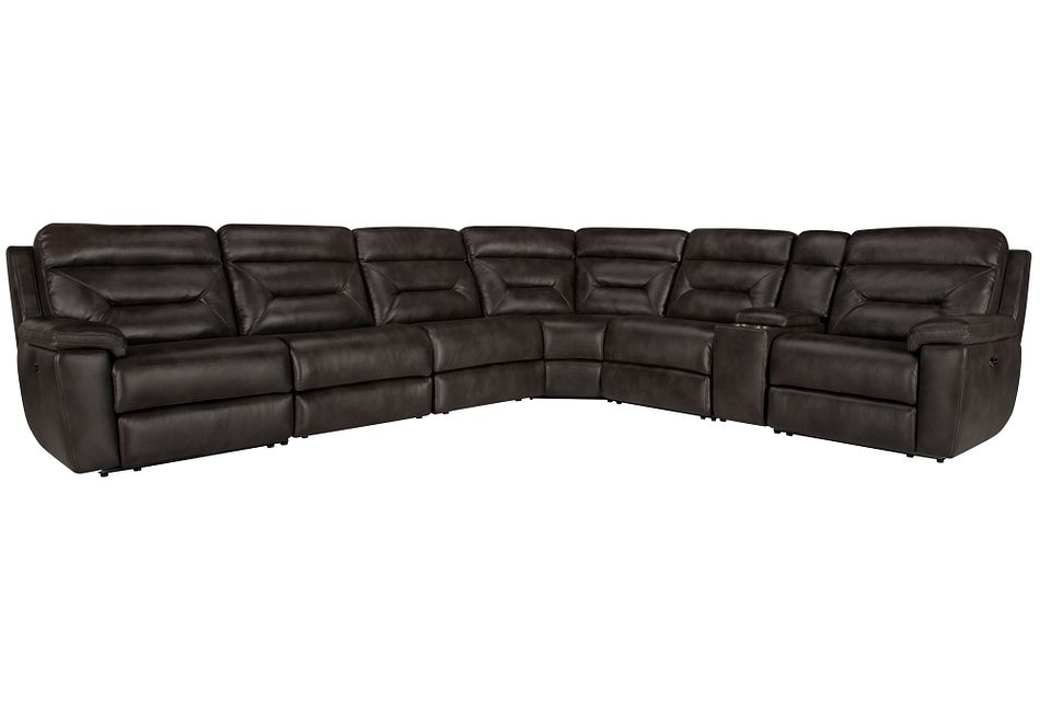 Phoenix Dark Gray  MICRO Large Two-Arm Power Reclining Sectional