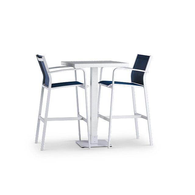 Lisbon Navy Square Pub Table & 2 Barstools (0)
