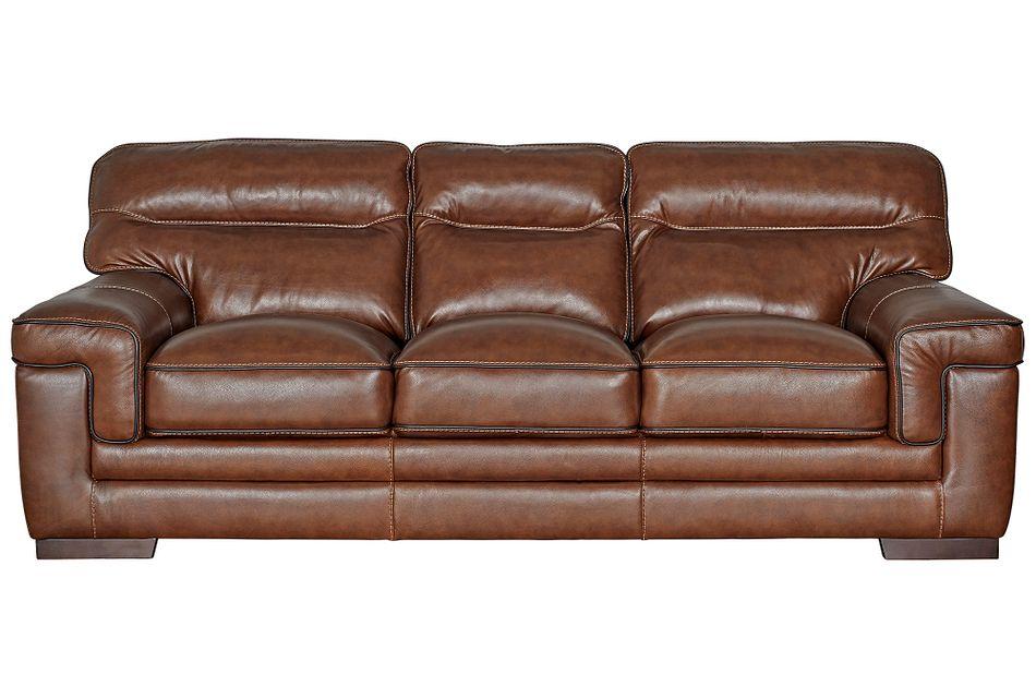 Alexander Medium Brown Leather Sofa