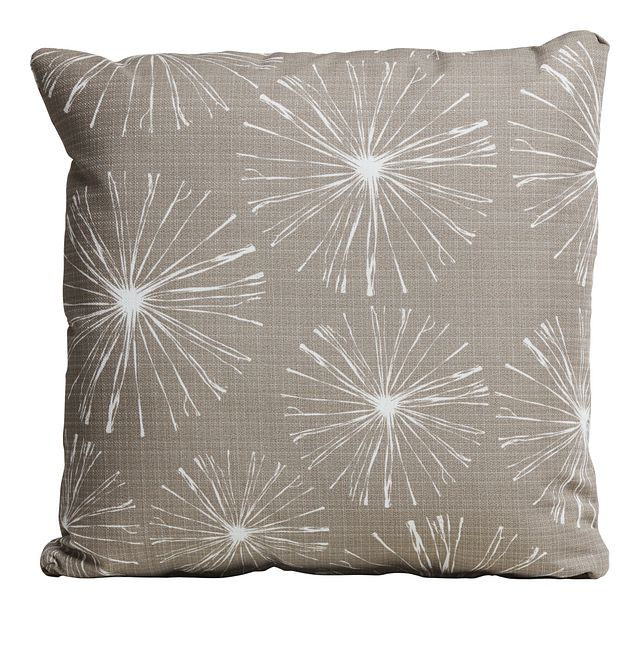 """Sparks Gray 20"""" Indoor/outdoor Accent Pillow (0)"""