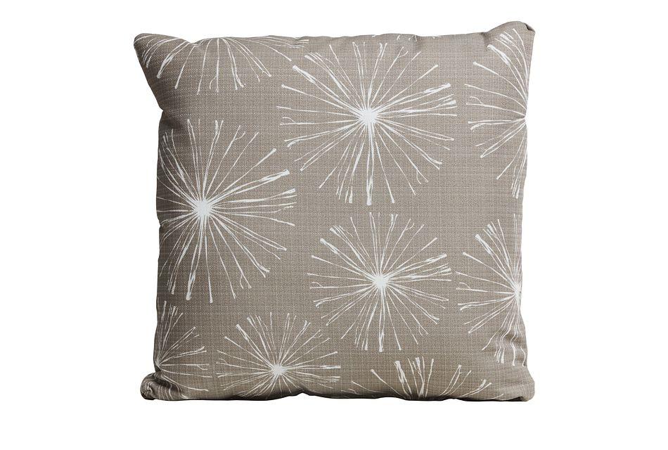 """Sparks Gray 20"""" Indoor/outdoor Accent Pillow"""