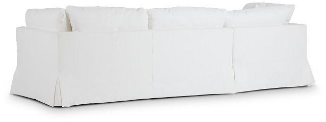 Raegan White Fabric Left Chaise Sectional