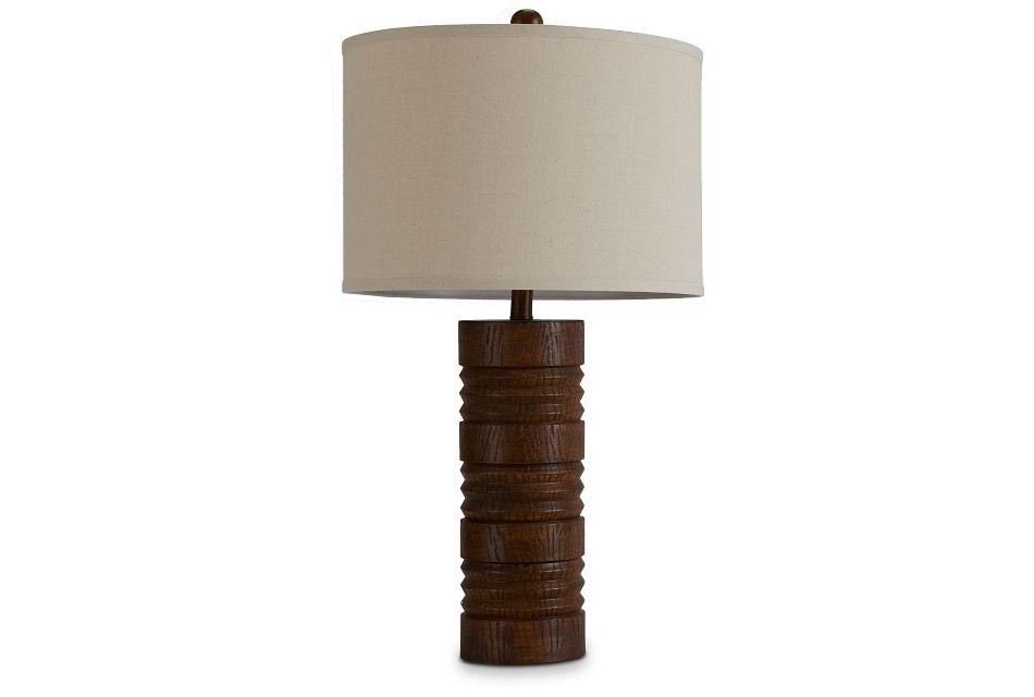 Gina Brown Polyresin Table Lamp,  (1)