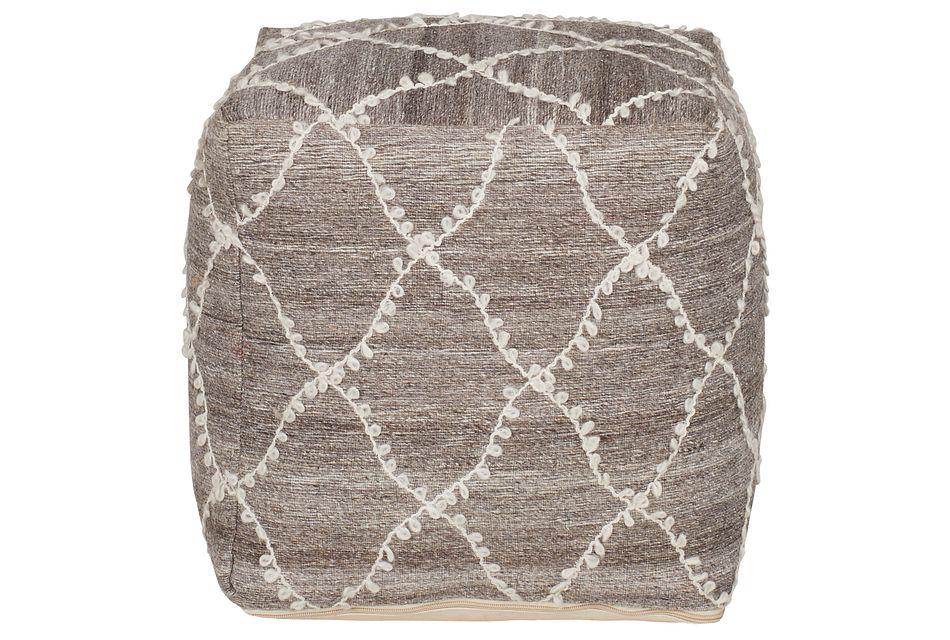 Marisa Gray Accent Pouf