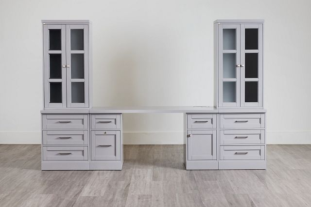 Newport Gray Drawer Wall Desk (0)