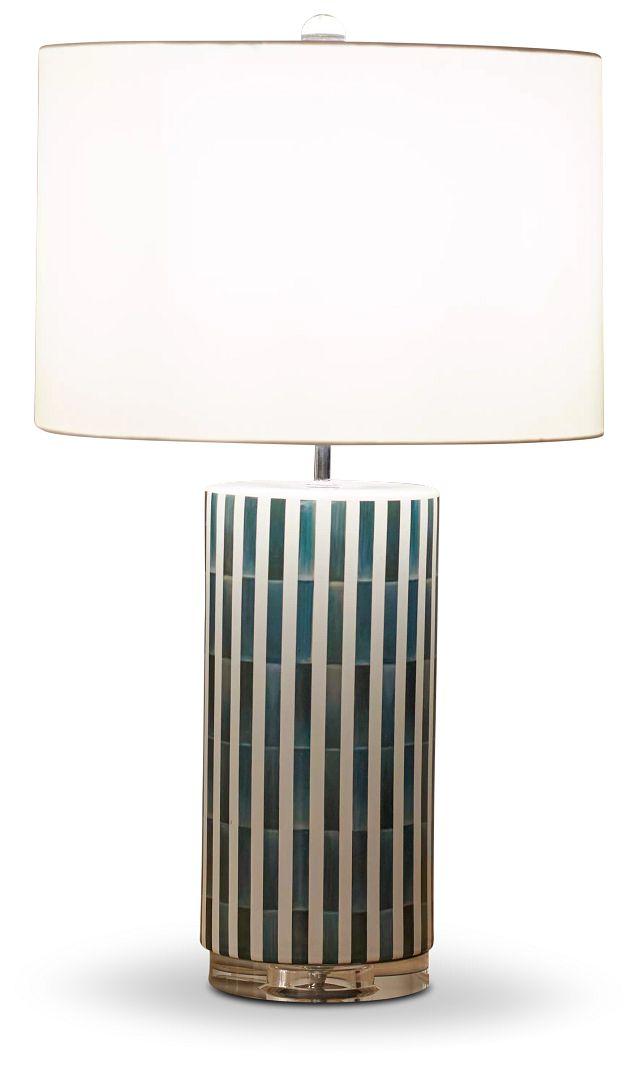 Liam Blue Ceramic Table Lamp (2)