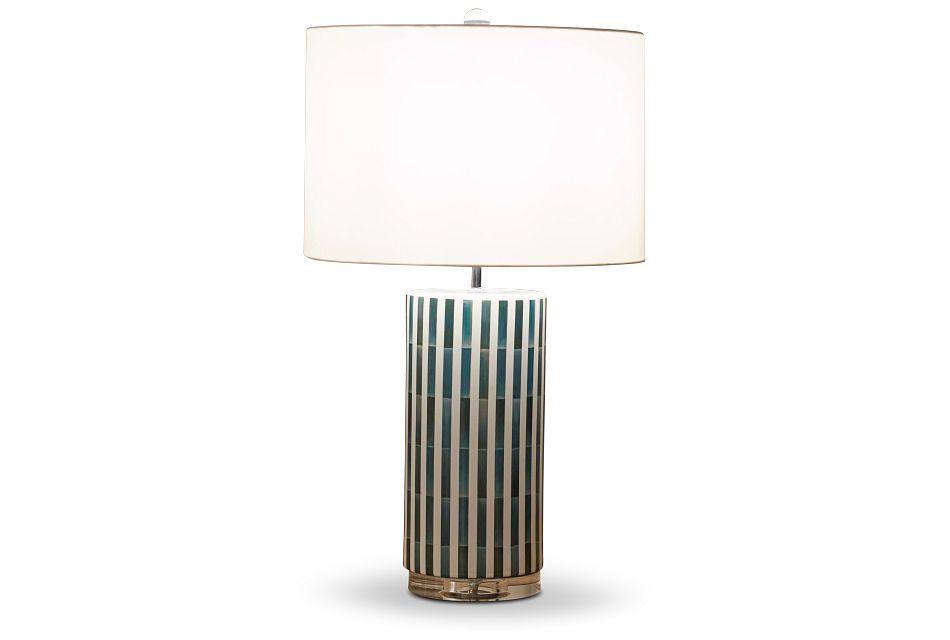 Liam Blue Ceramic Table Lamp