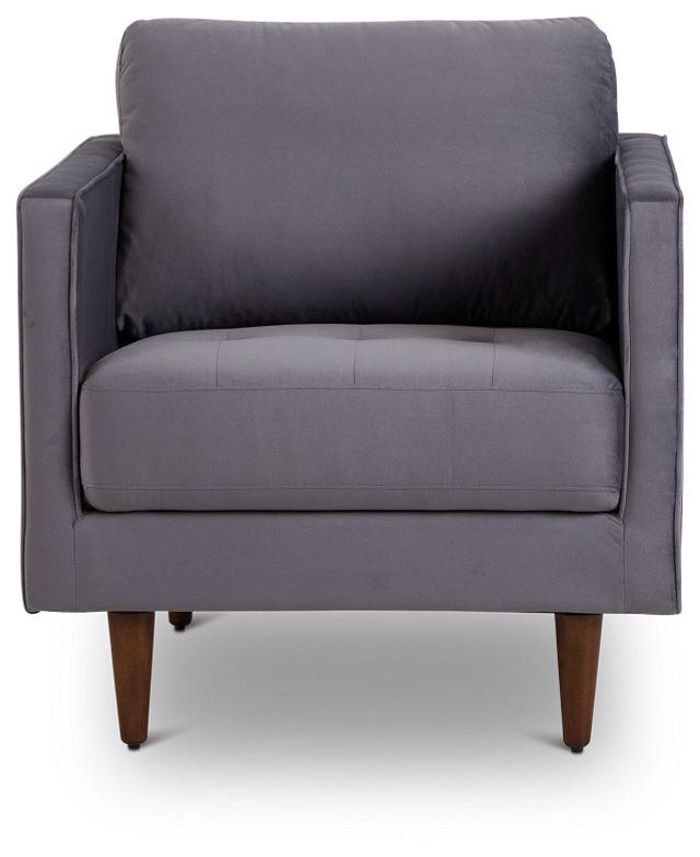 Luna Gray Velvet Chair (3)