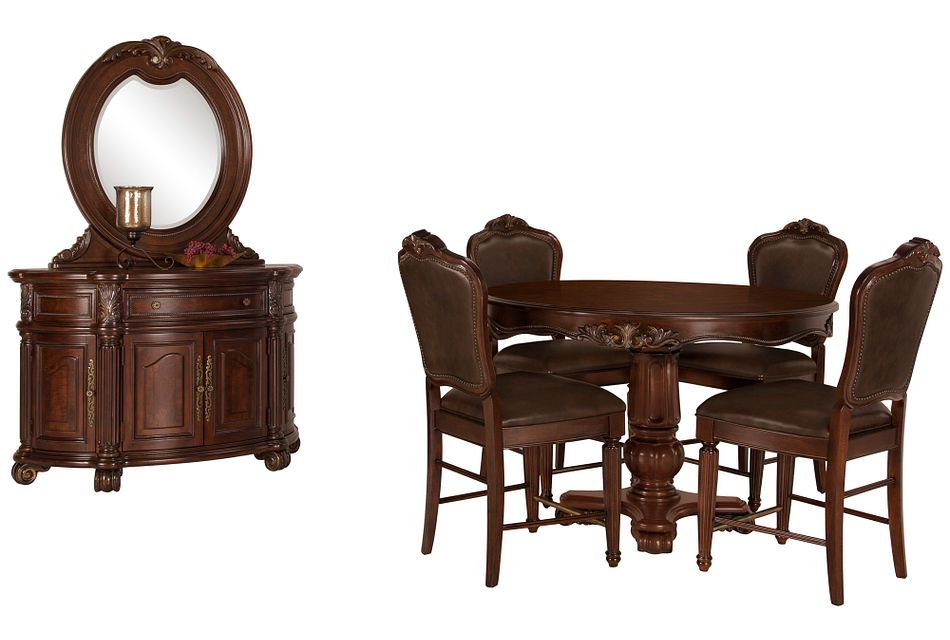 Regal Dark Tone Round High Dining Room