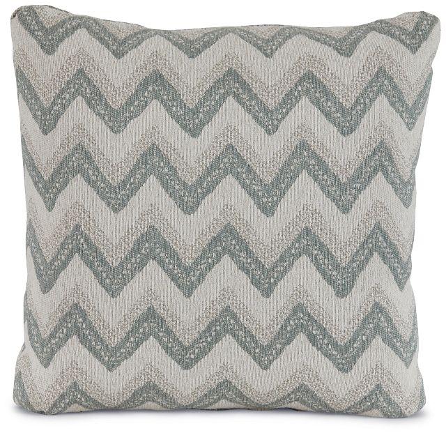 "Canari Blue Fabric 20"" Accent Pillow (1)"