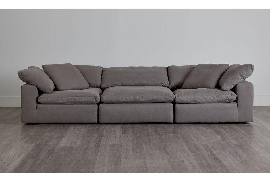 Nixon Light Gray Fabric 3 Piece Modular Sofa,  (0)