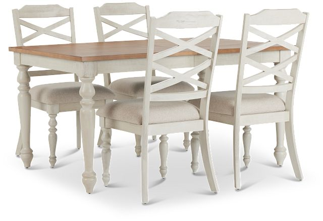 Lexington Two-tone Table & 4 Chairs (2)