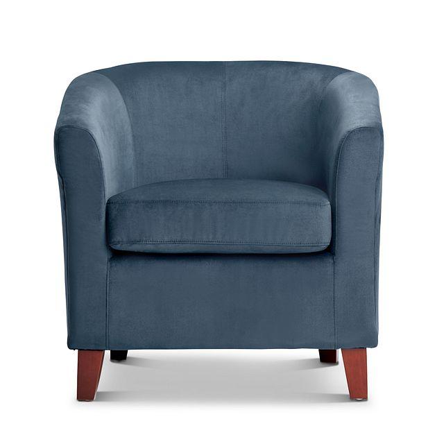 Concord Dark Blue Velvet Accent Chair (2)
