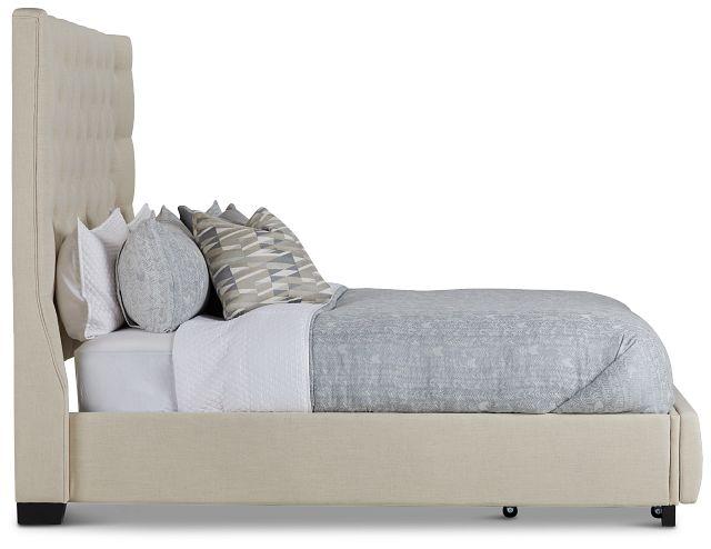 Rylee Beige Uph Platform Storage Bed (2)